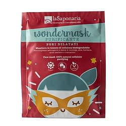 wondermask maschera in tessuto purificante la saponaria