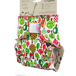 Pannolino lavabile taglia unica fitted petit lulu fruit trees profilo