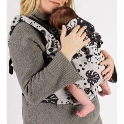 marsupio regolabile isara the one philodendra silver gray standard, toddler preschooler