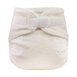 pannolino lavabile fitted bamboo blumchen newborn velcro fronte