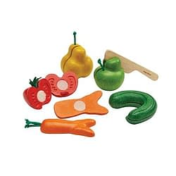 Wonky fruit and vegetables plan toys