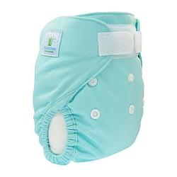 Pannolino lavabile cover newborn blumchen turchese