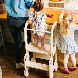 torre di apprendimento montessoriana toddlerinfamily convertibile betulla tavolino