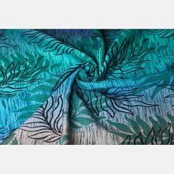 fascia Yaro Oasis Duo Aqua Grad Emerald Navy Wool particolare