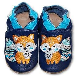 scarpine antiscivolo in cuoio fiorino fox