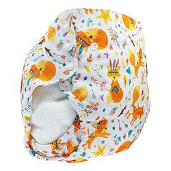 Pannolino lavabile cover XL blumchen foxes