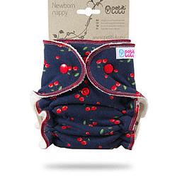 Pannolino lavabile fitted newborn petit lulu cherries