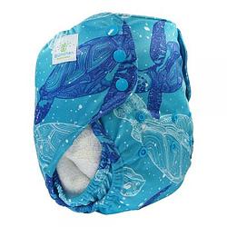Pannolino lavabile cover xl blumchen turtles