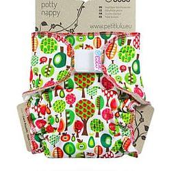 Pannolino lavabile taglia unica fitted petit lulu fruit trees