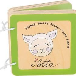 Libro in legno bambini lotta small foot forme geometriche