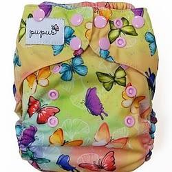 Pannolino lavabile pocket pupus butterflies snaps