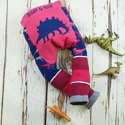 Leggings blade and rose pink stregosaurus in cotone