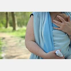 fascia portabebè neonati yaro newborn blue