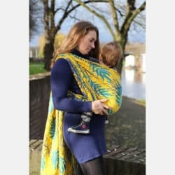 Yaro Oasis Puffy Yellow Turkis Seacell ring sling fascia ad anelli