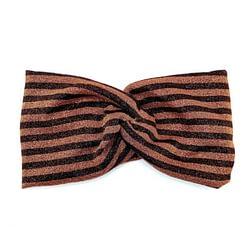Fascia per capelli semiturbante headband lurex rame