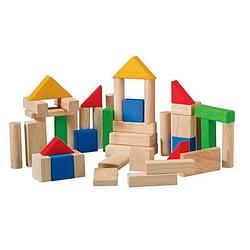 costruzioni in legno 50 pezzi plan toys
