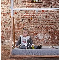 Struttura letto montessoriano teepee childhome legno massello di faggio