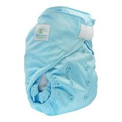 pannolino lavabile cover blumchen turquoise velcro
