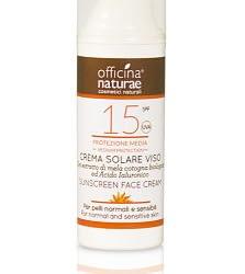 crema solare viso spf15 officina naturae