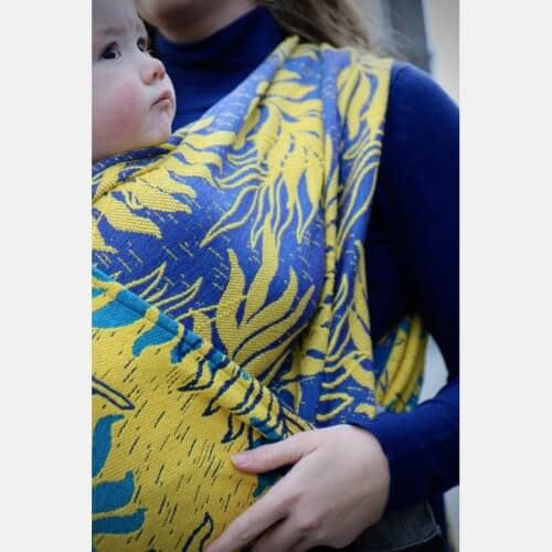 fascia ad anelli Yaro Oasis Puffy Yellow Turkis Seacell ring sling