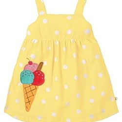 Vestitino Frugi jess party dress polka cotone organico