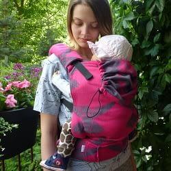 Marsupio ergonomico almelle toddler wrap conversion colibrì fuxia